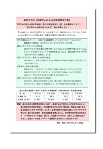 2013年_空梅雨_異常少雨_ダム不要が証明されたleaf