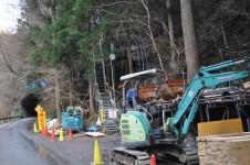 設楽ダムサイト地点左岸岩盤の横坑調査